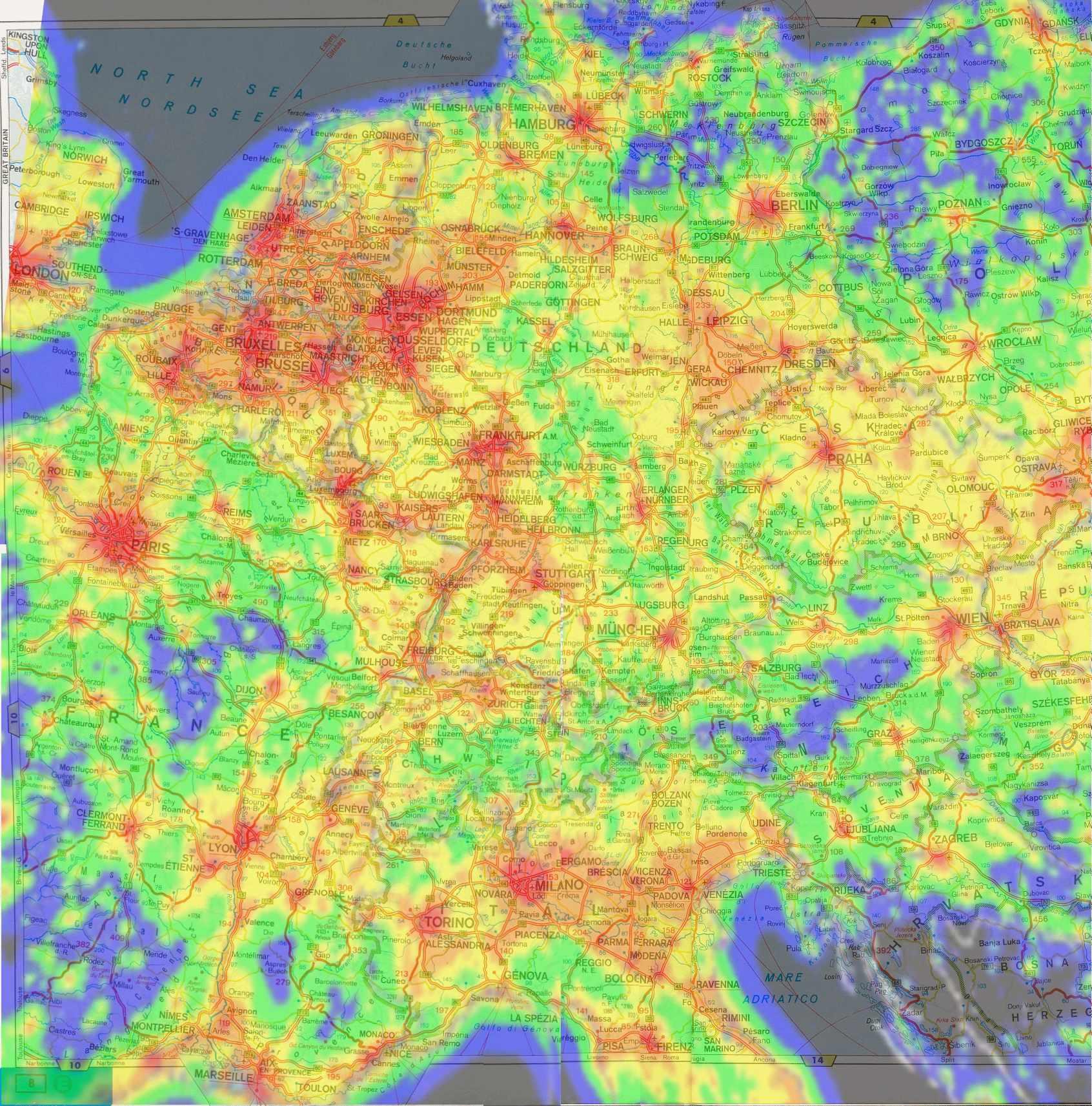 lichtverschmutzung deutschland karte Der optimale Standort (Lichtverschmutzung) lichtverschmutzung deutschland karte